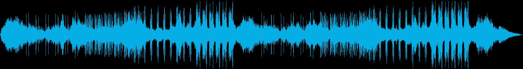 ドローンアンビエント+ドラムの再生済みの波形
