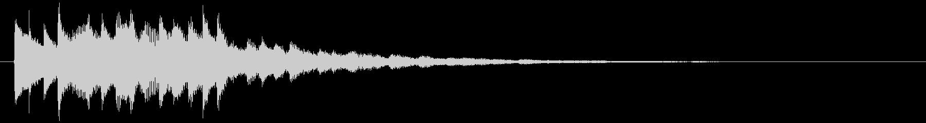 幻想的なジングルの未再生の波形