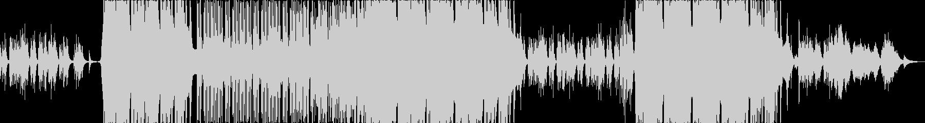 雪国をイメージした和風ピアノBGMの未再生の波形