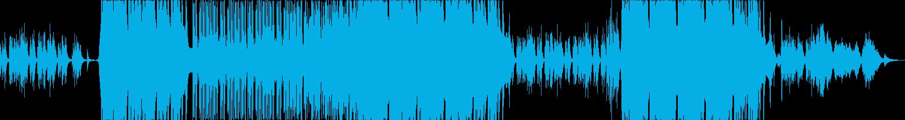 雪国をイメージした和風ピアノBGMの再生済みの波形
