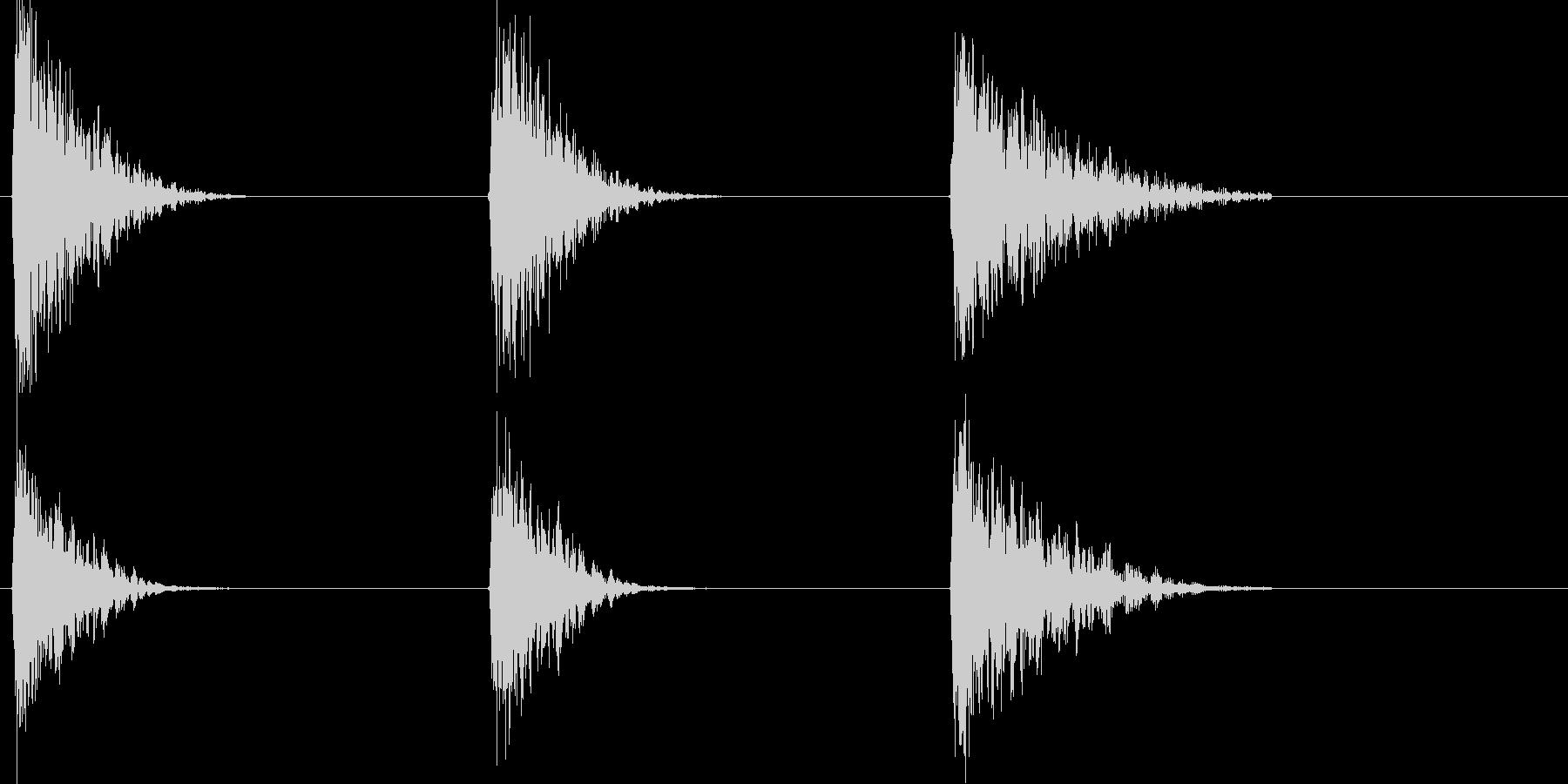 爆発ファイアバースト、カタパルト、...の未再生の波形