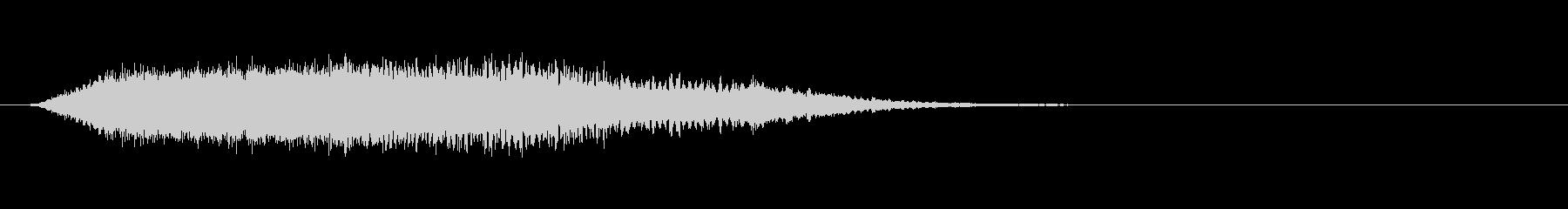 シャープな怖いメロディックロゴの未再生の波形