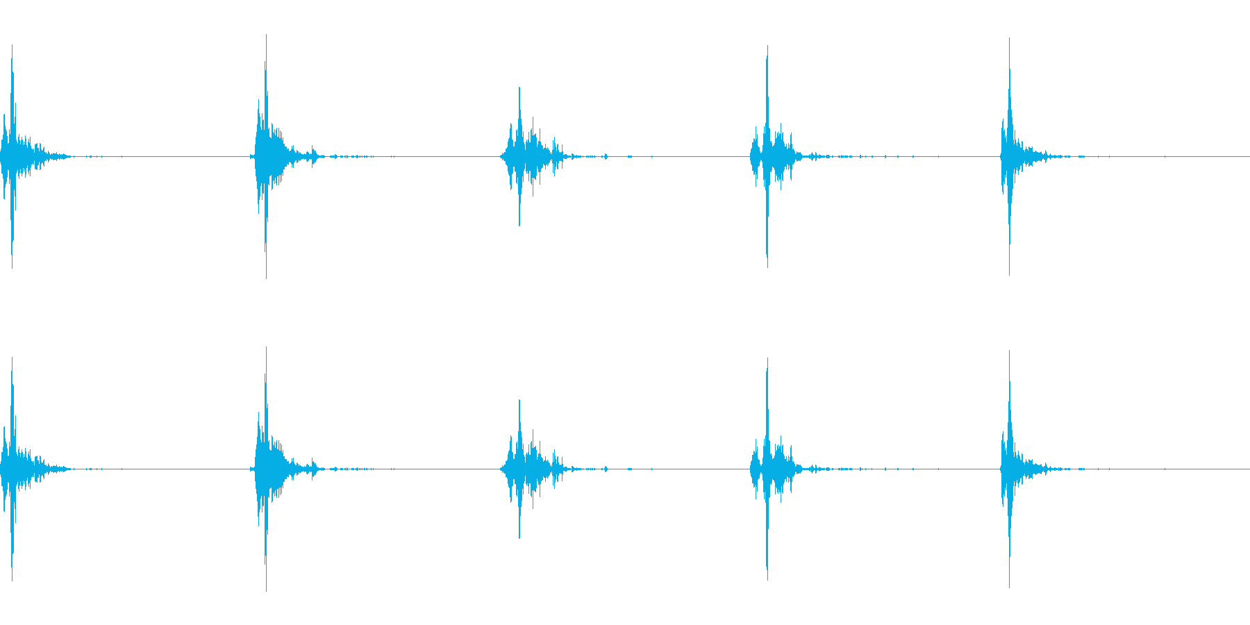 神楽鈴(小)を強く振って鳴らした音の再生済みの波形