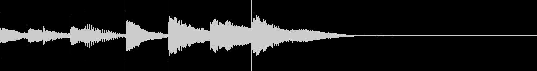 マリンバとグロッケンのジングル2の未再生の波形