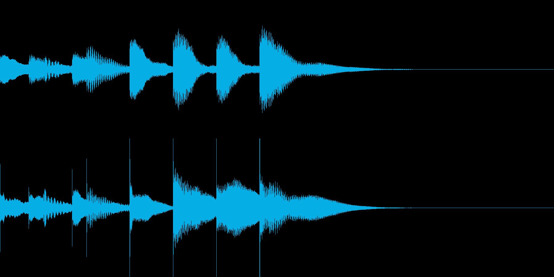 マリンバとグロッケンのジングル2の再生済みの波形