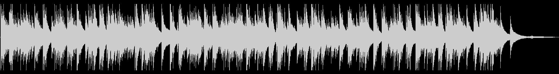 優しくて切ないピアノソロBGMの未再生の波形
