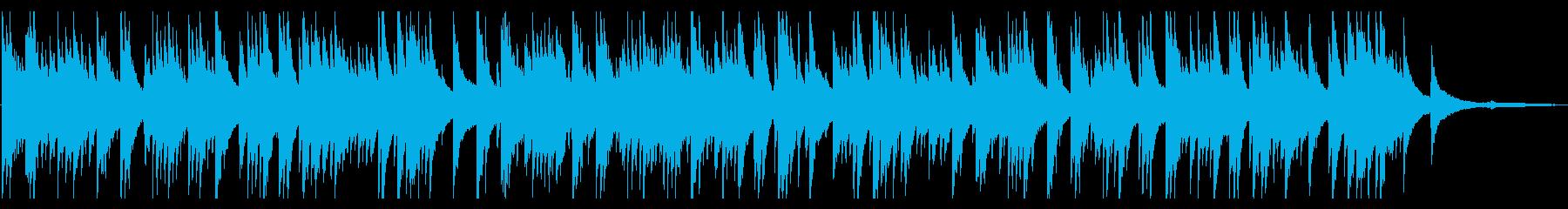 優しくて切ないピアノソロBGMの再生済みの波形