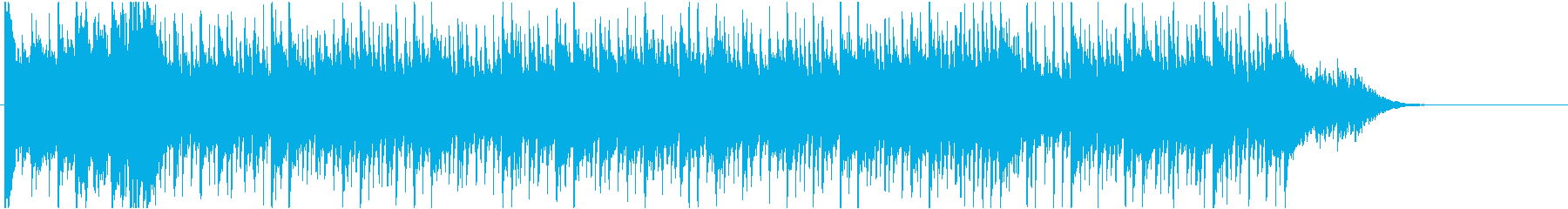 バラエティ番組テーマ曲の再生済みの波形