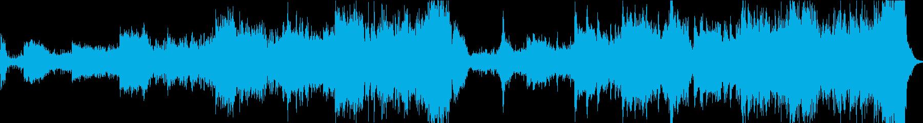 アンビエントでワイルドな曲の再生済みの波形
