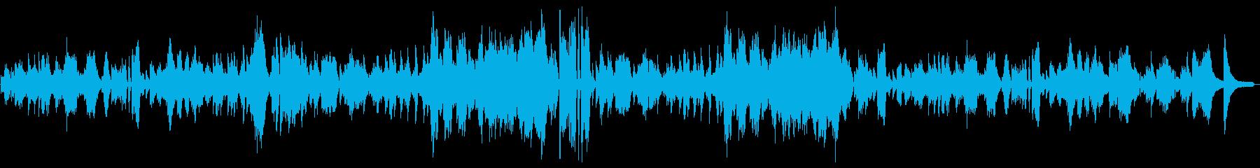 優しく、バロック的な雰囲気のピアノ独奏曲の再生済みの波形