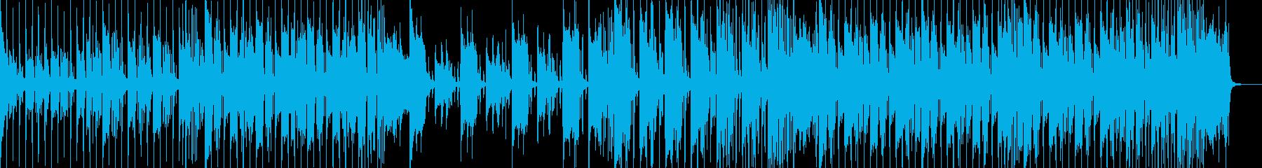 オシャレな感じのエレクトロファンクの再生済みの波形