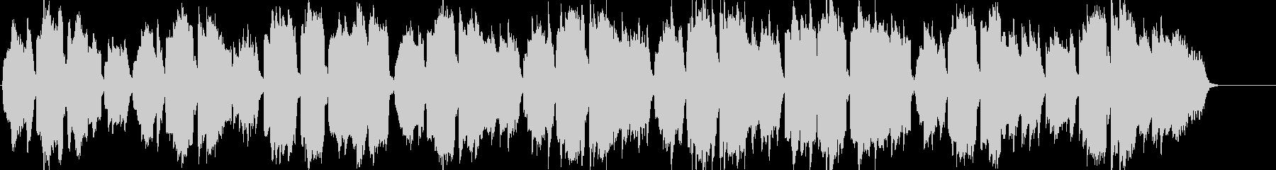 ケルトのホイッスルとハープのやわらかな曲の未再生の波形
