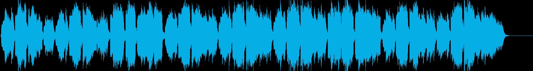ケルトのホイッスルとハープのやわらかな曲の再生済みの波形