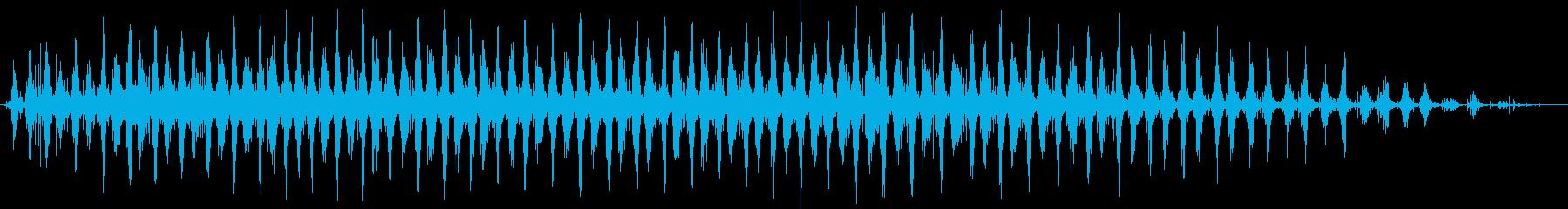 シェイカー:ミディアムシェイク、漫...の再生済みの波形