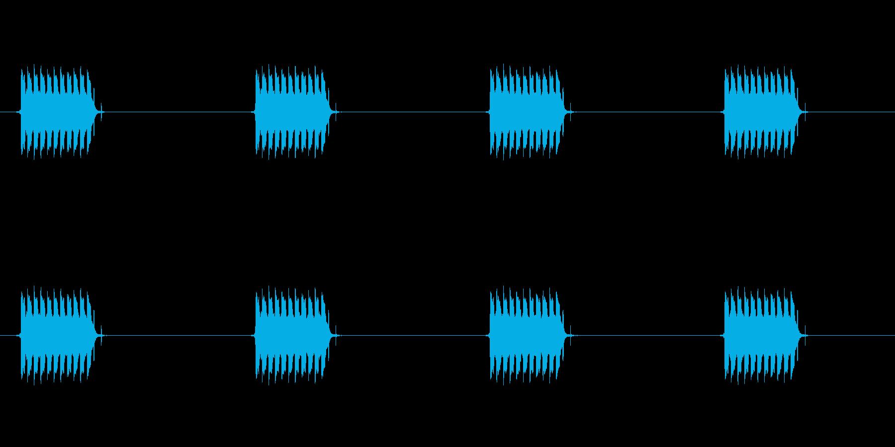 プルルルルル!電話のアラーム音の再生済みの波形