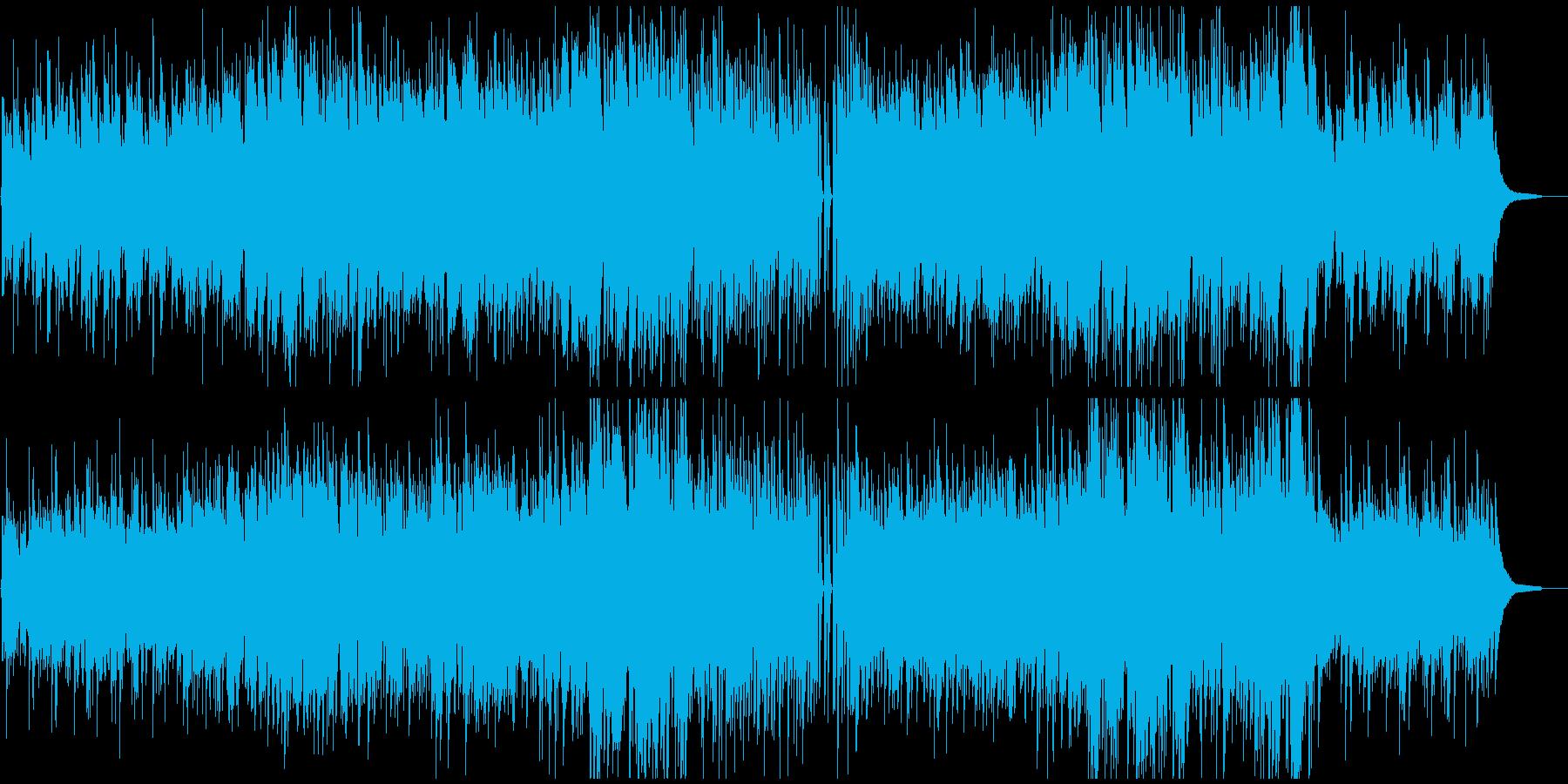 映像BGM ピアノトリオで爽やか感動的の再生済みの波形