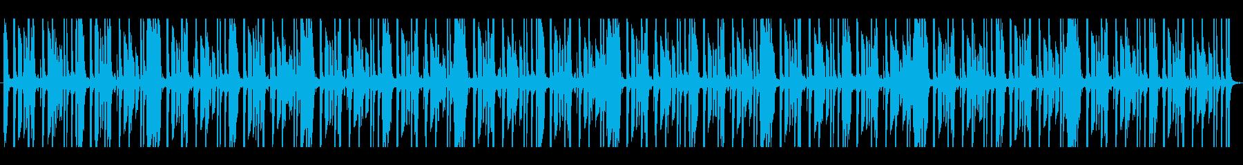 怪しげなサウンドのリズム系トラックです。の再生済みの波形