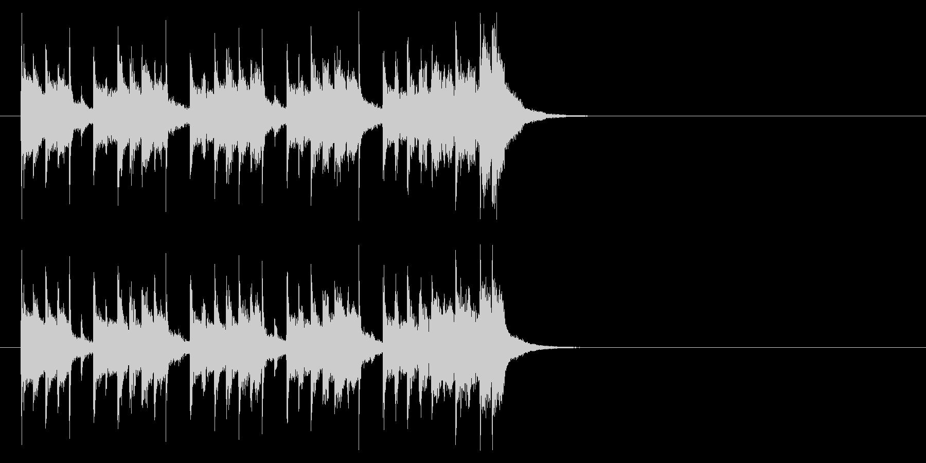 ジングル(クイズ解答記入タイム)の未再生の波形