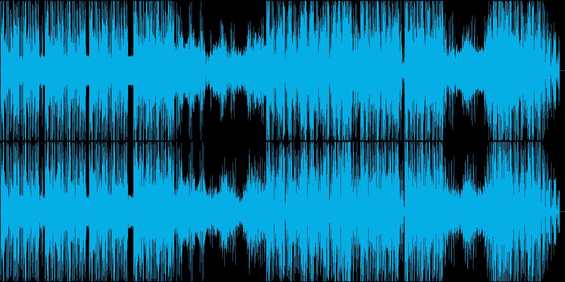 エッジの効いたダークシンセの再生済みの波形