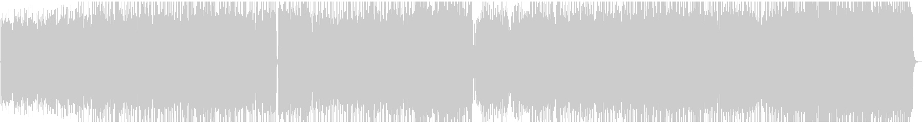 エレキギターの疾走感あるリフの未再生の波形