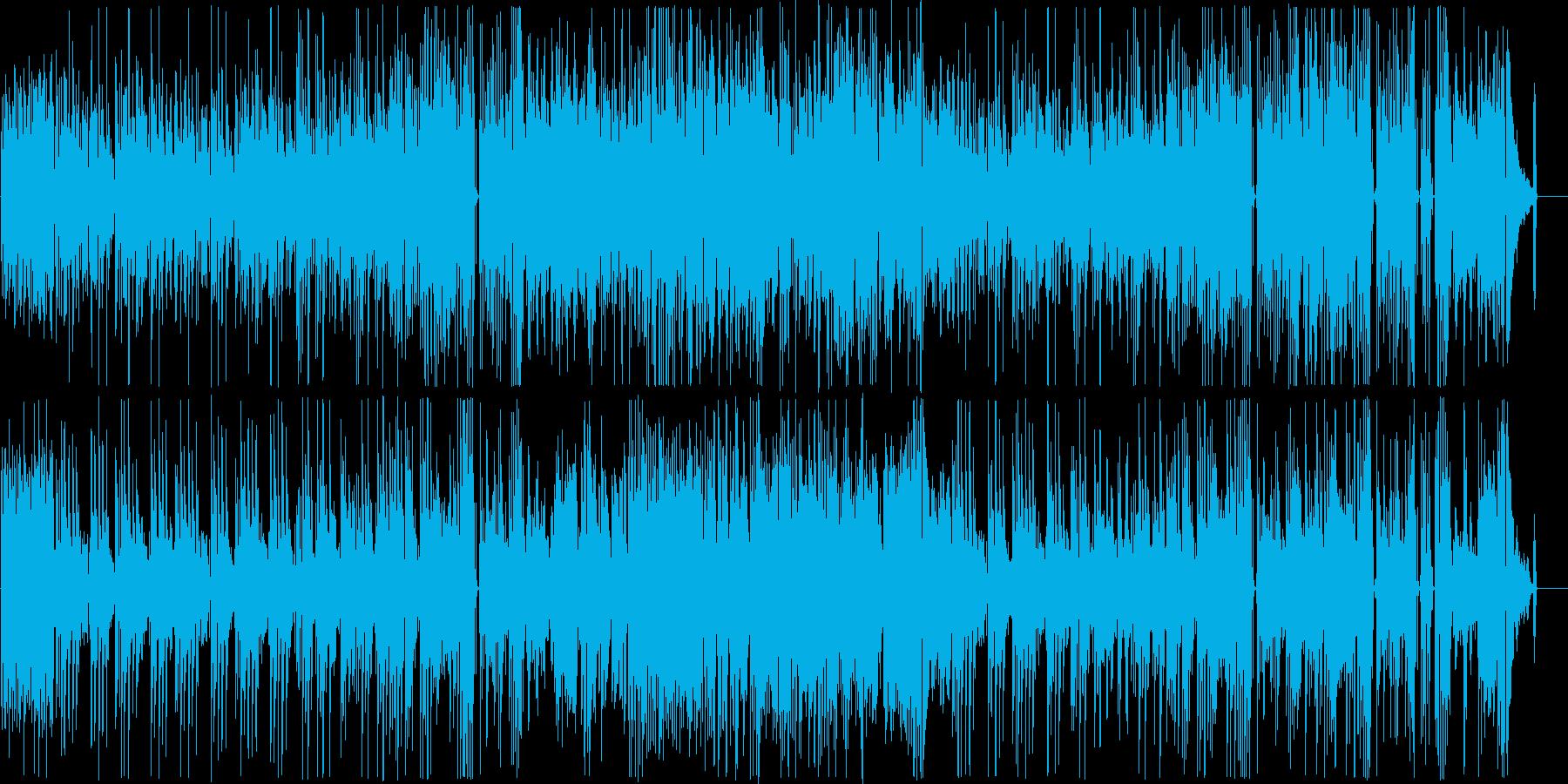コミカルでかわいいギターインストの再生済みの波形