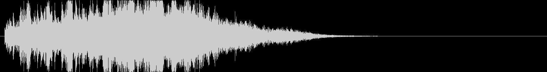 キラキラピカピカロゴ表示エレクトロニックの未再生の波形