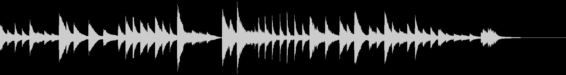 さくらをイメージした和風のピアノソロの未再生の波形