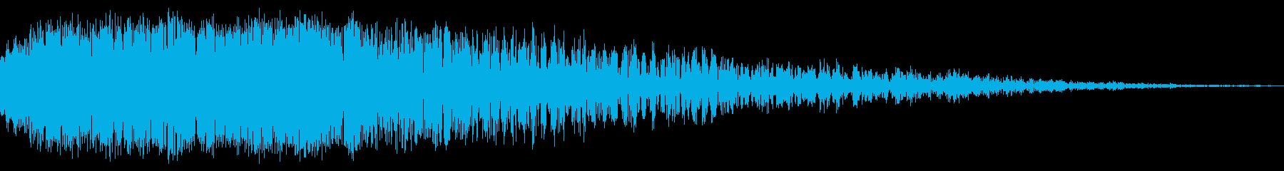 金物、キーン、カキーン、001の再生済みの波形