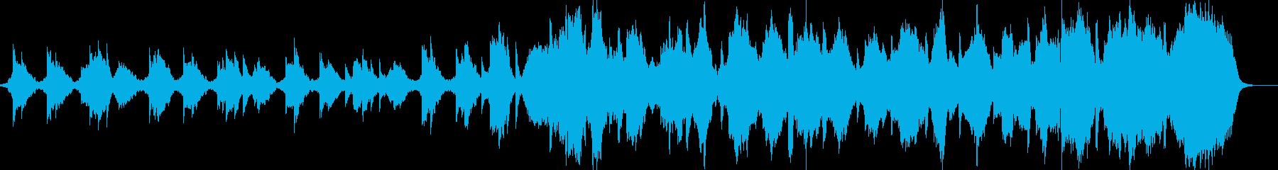 静かで神秘的な映像系BGMの再生済みの波形