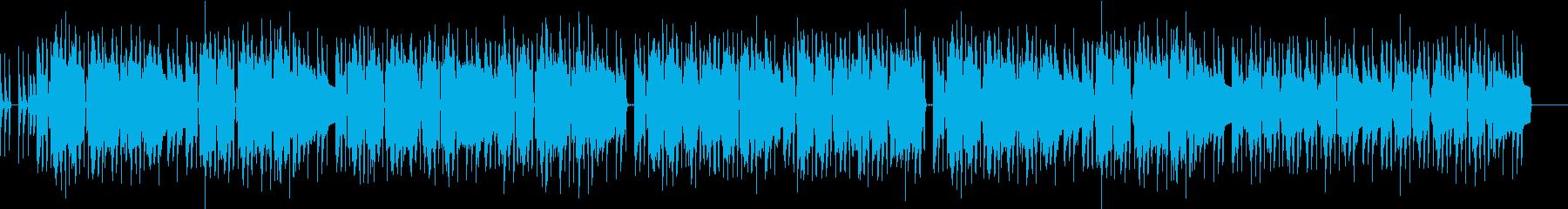 切ない印象のスウィング曲の再生済みの波形