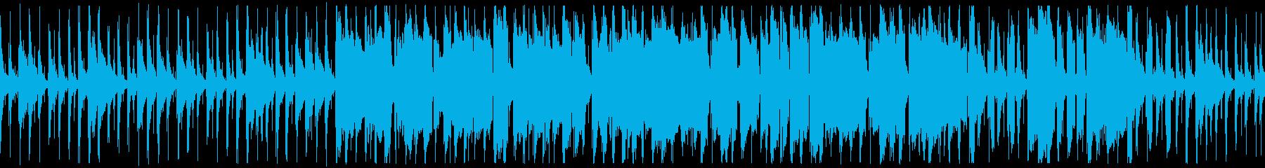 沖縄民謡のようなゆったりしたBGMの再生済みの波形