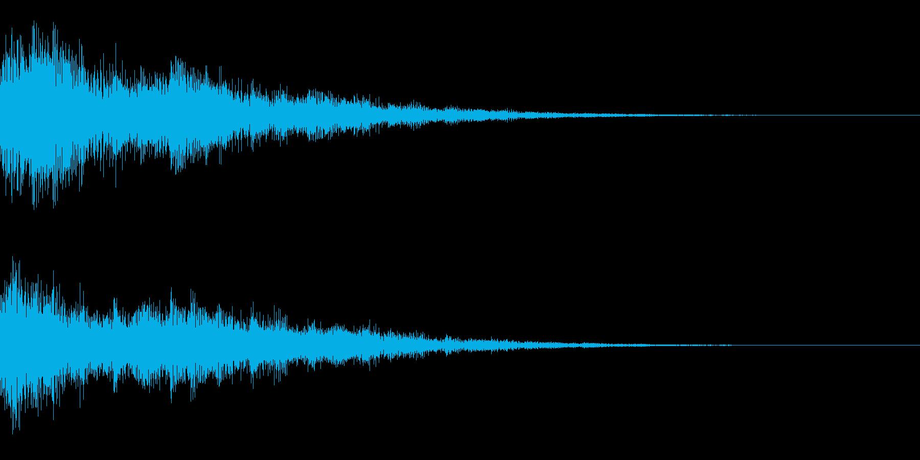 「決定」「選択」/システム効果音の再生済みの波形
