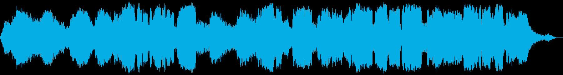 シンセサイザーと低い竹笛の音色の瞑想音楽の再生済みの波形