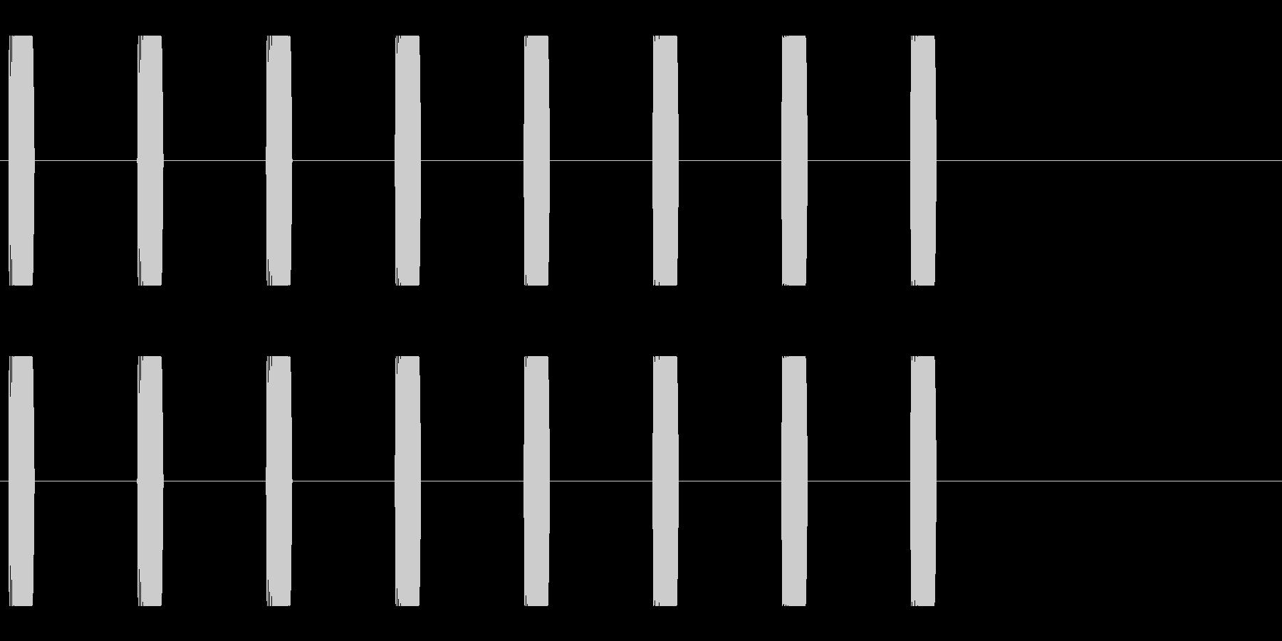 コミカルな足音 C-1-3の未再生の波形
