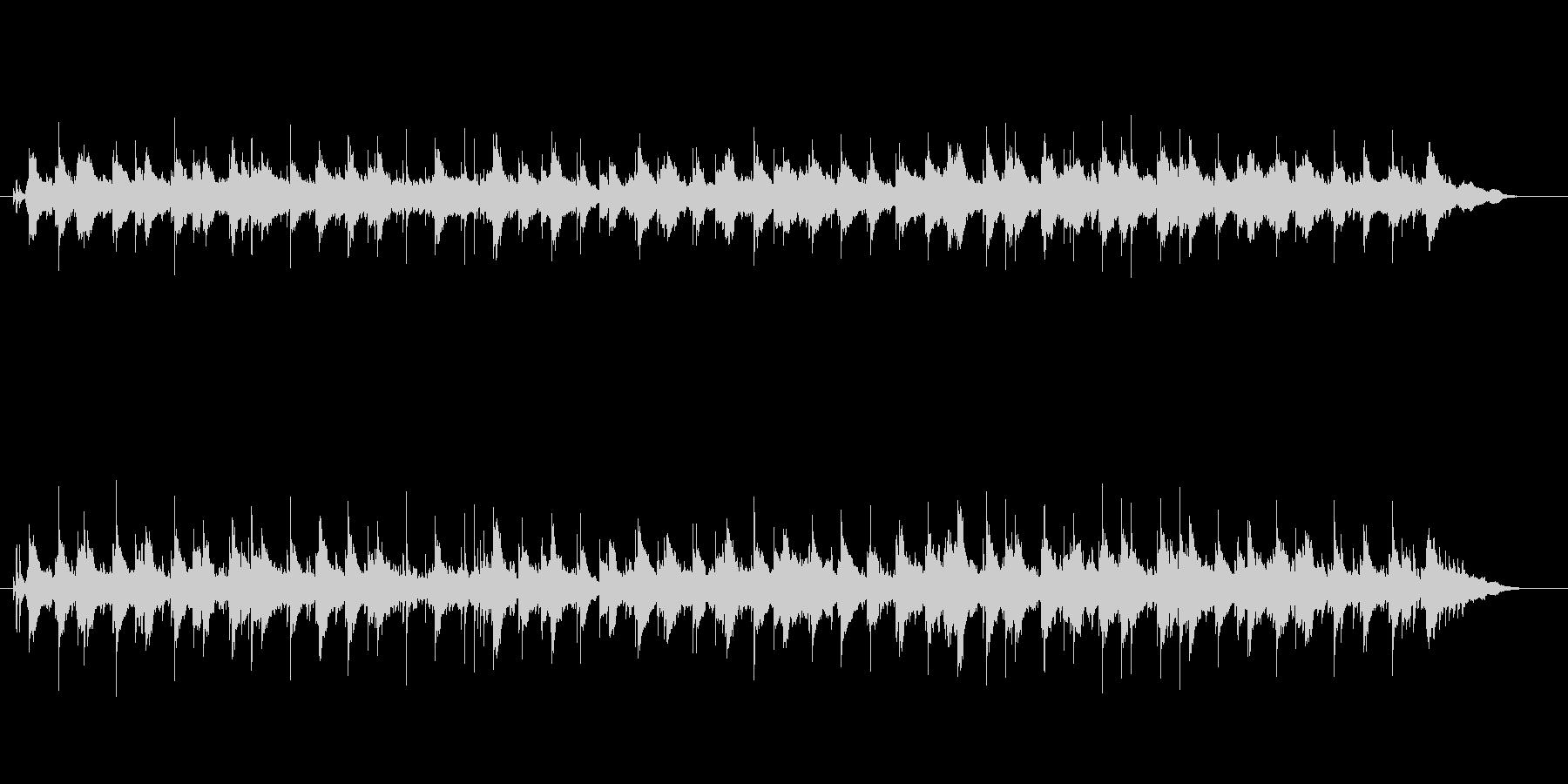 メランコリックなバラードの未再生の波形