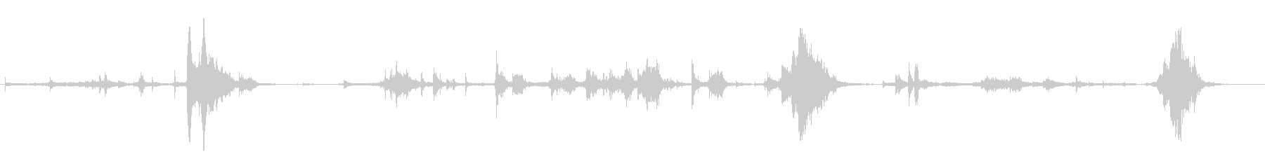 クラシックオールドムービーボディの滝の未再生の波形