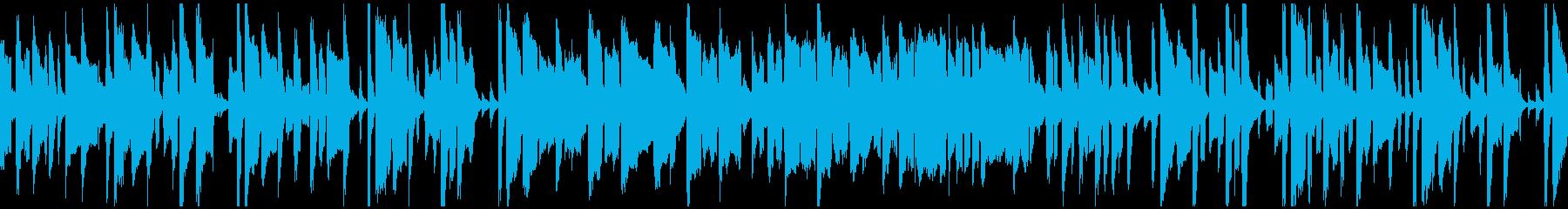 のほほん素朴なリコーダーの劇伴※ループ版の再生済みの波形