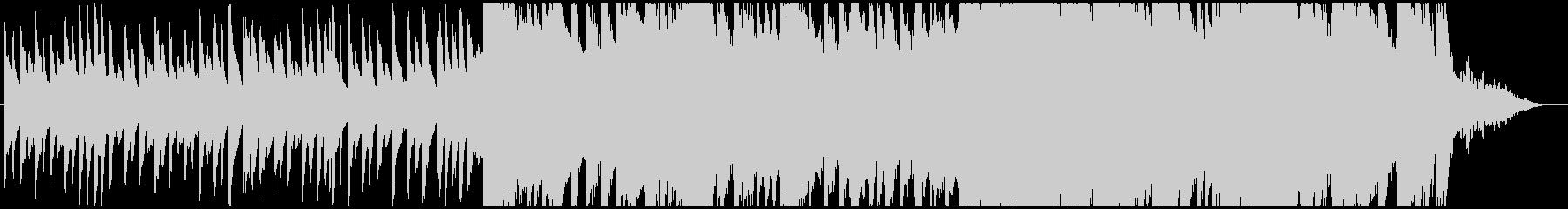 ピアノと弦楽器の感動和風BGMの未再生の波形