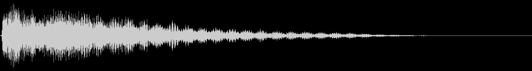 テロップ紹介(ピアノとシンセ:バン)4の未再生の波形