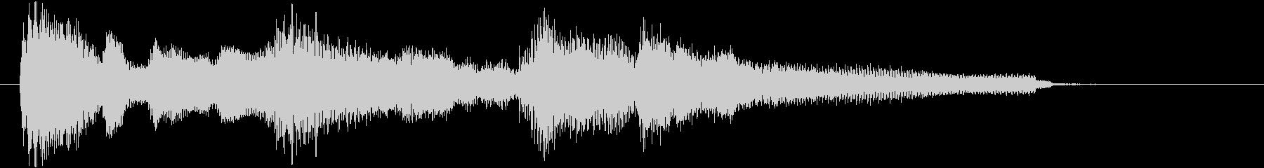 ジングル サウンドロゴ ジャズ 秋の気配の未再生の波形