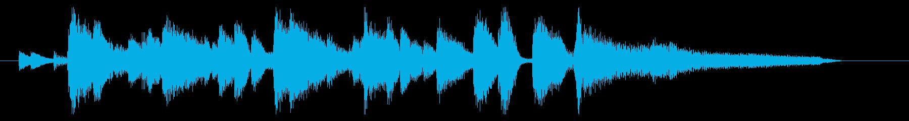おしゃれなジャズ ジングル10の再生済みの波形