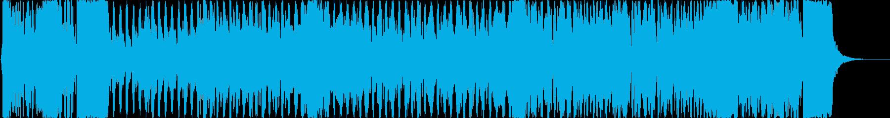 ニュースのOP風の勢いあるオーケストラの再生済みの波形