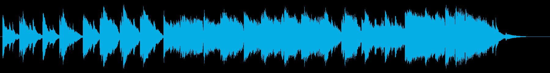 ピアノとストリングスの悲しいBGMの再生済みの波形