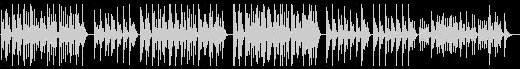 ストリングスとセンチメンタルなリコーダーの未再生の波形