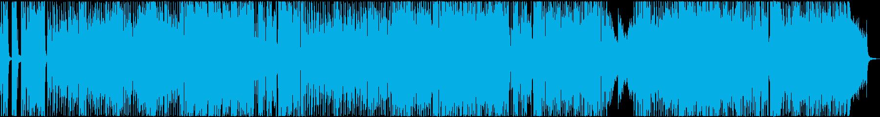 爽快で軽快な明るいポップ(メロディ無し)の再生済みの波形