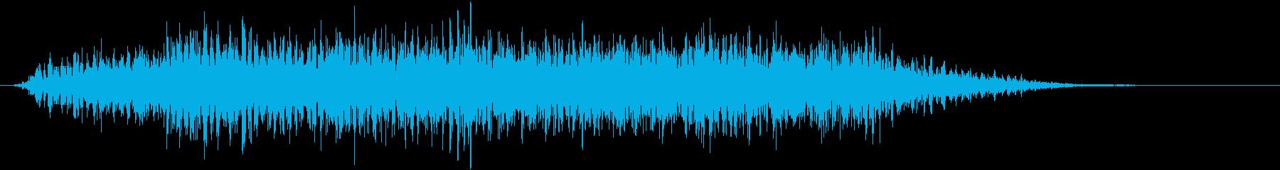 悪魔・怪物の不気味な声の再生済みの波形