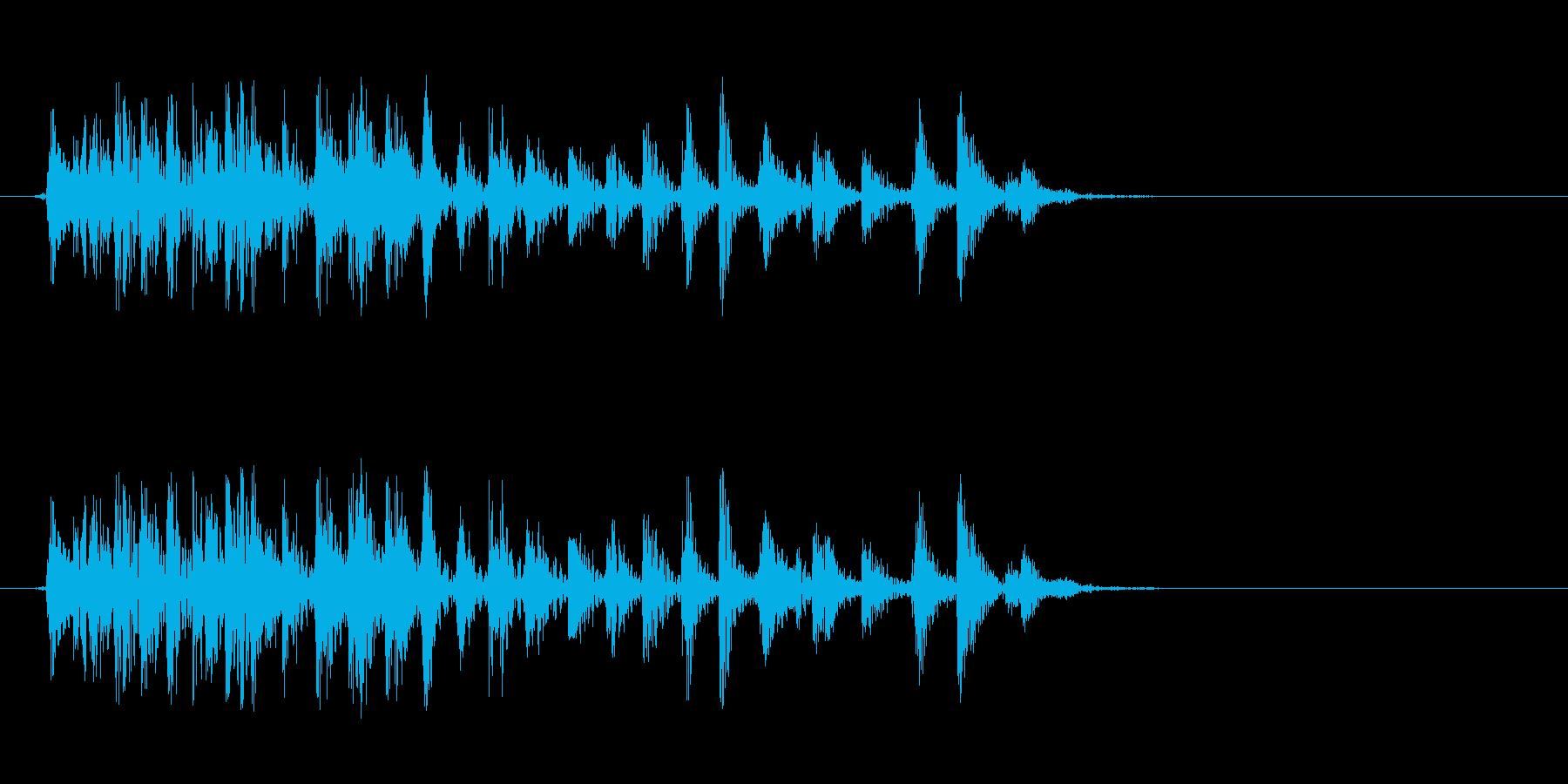 [生録音]ゲップ音02(ミドル)の再生済みの波形