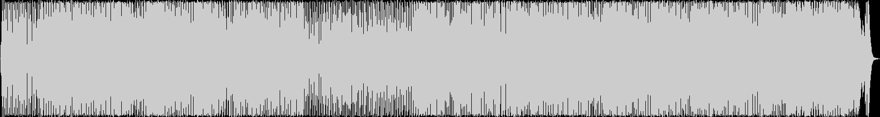 シャッフルリズムが印象的な明るいロックの未再生の波形