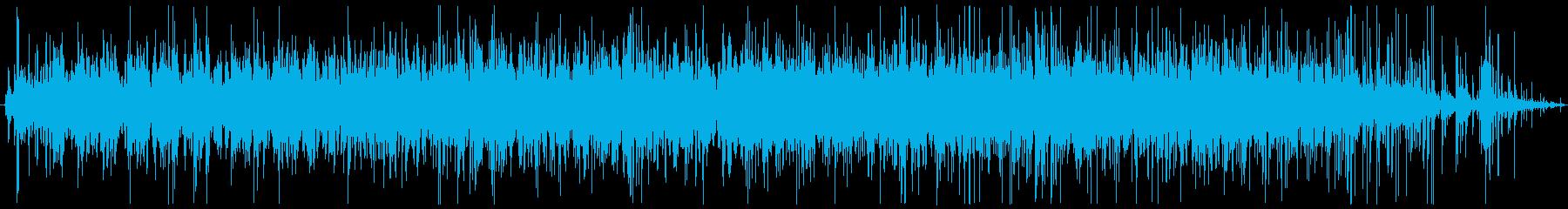 コーヒーの豆を挽く音の再生済みの波形