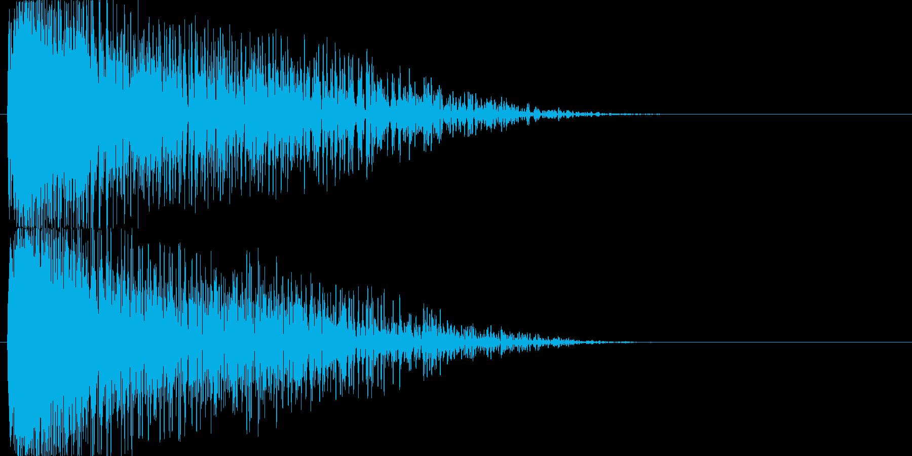 【SE】爆発音02(中)の再生済みの波形